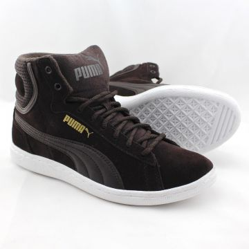 Puma Vikky Mid Twill 361240 02 Damen Women Leder High Top