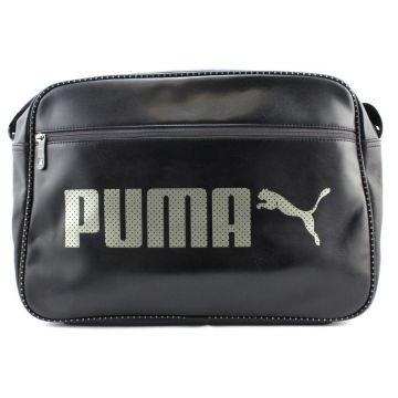 Puma Campus Reporter 074534 01 Bag Shoulder Bag Laptop Bag Black ... 3982ddbdab229