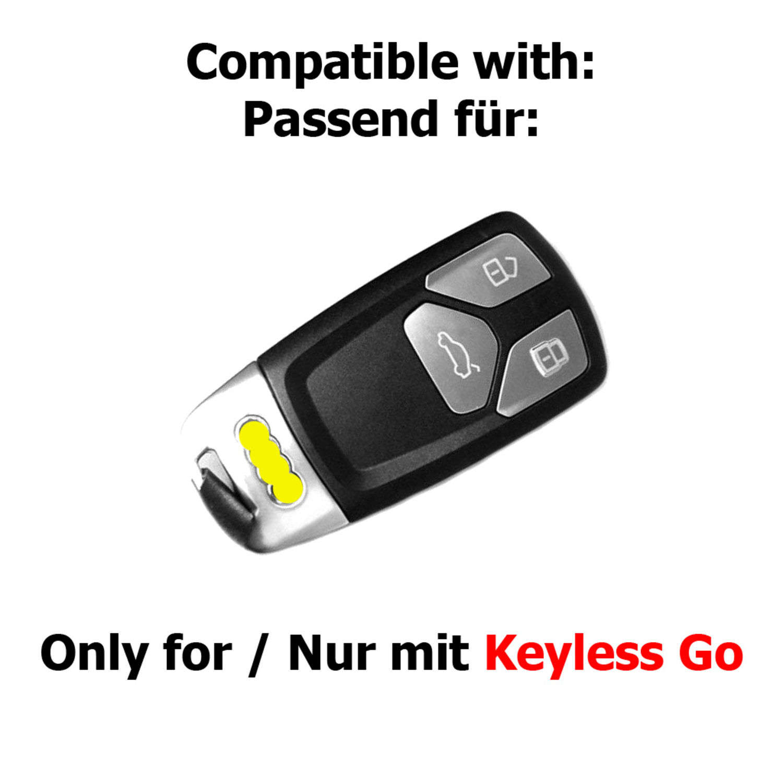 Silikon Schutz Hülle schwarz Schlüssel paßt zu Audi A5 S5 A4 S4 Q3 Q5 keyless
