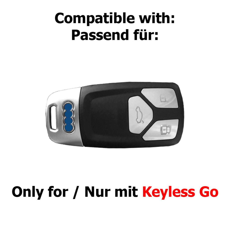 Audi Smart Schlüssel Hülle Cover case A1 A4 A5 A6 A7 A8 Q3 Q5 TT Kurz 8 Farben
