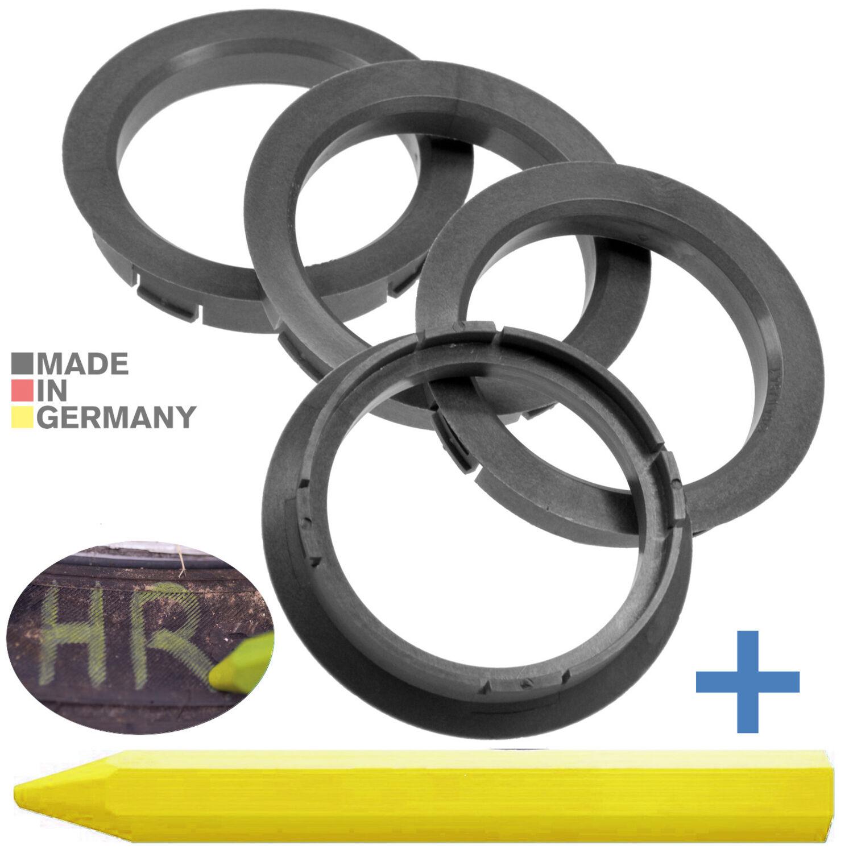Spedizione immediatamente anelli di centraggio 4x 66,6 mm X 57,1 mm PNEUMATICI gesso 66 6 x 57 1