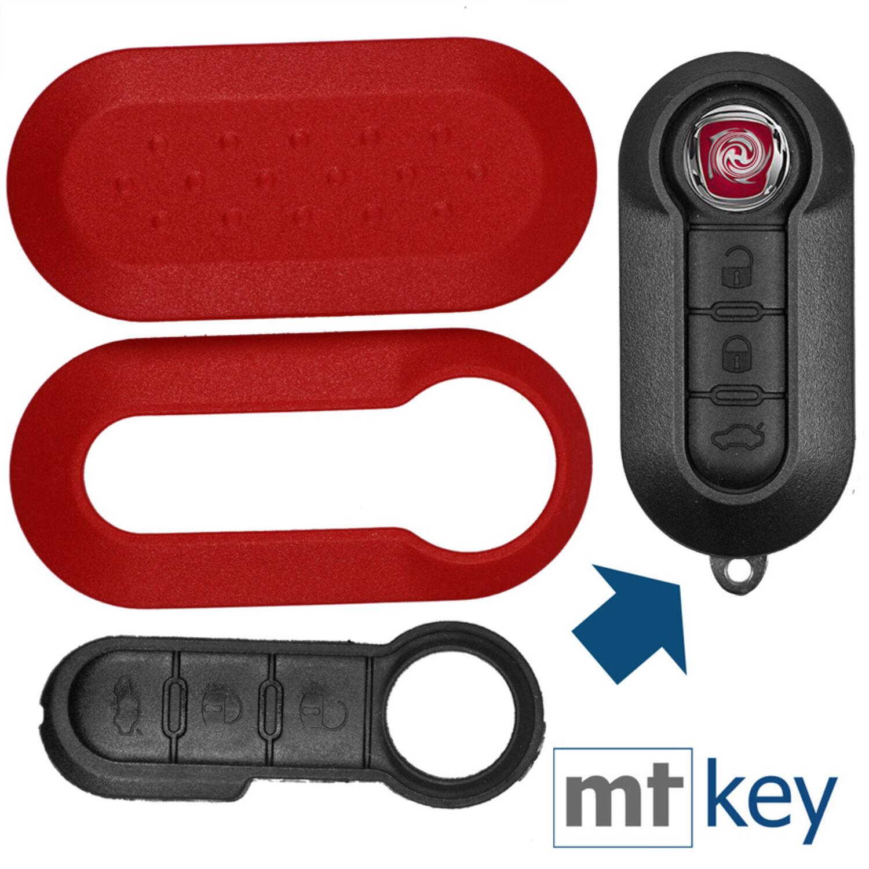 Auto Cover Key Schlüssel Schlüsselcover Hülle Schale Fiat 500 PUNTO EVO BRAVO
