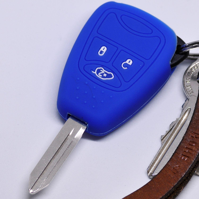 Auto Schlüssel Cover Hülle Rot Chrysler 300C Voyager Sebring Dodge RAM Nitro