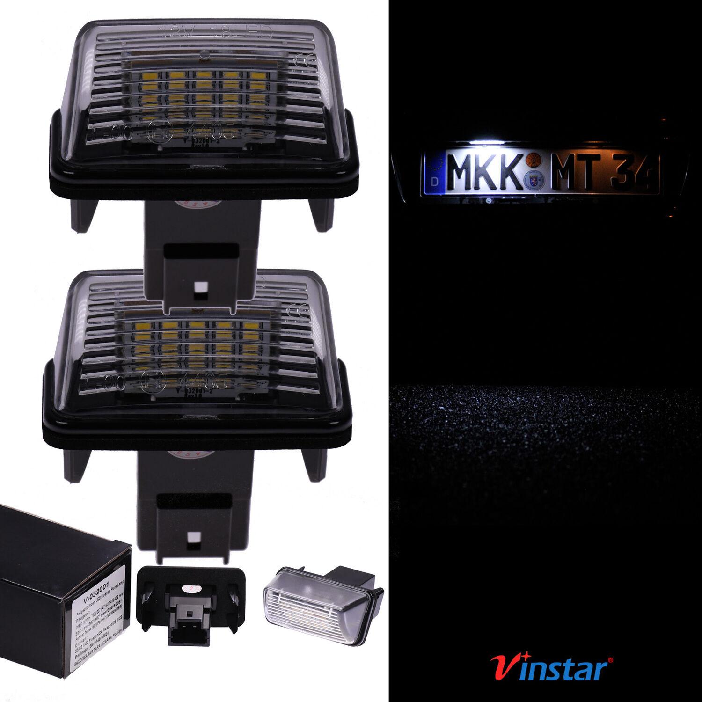 VINSTAR LED Kennzeichenbeleuchtung E-gepr/üft CAN-Bus 18 LEDs je Modul 6000 Kelvin kompatibel mit Mitsubishi Lancer 2003-2017