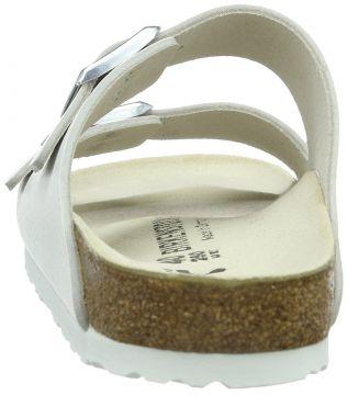 Details zu Birkenstock Basic Arizona 051 133 Damen Glattleder Zweiriemer Sandalen schmal wh