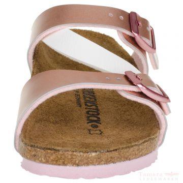 5200ac9613b3 Birkenstock Salina Kids 1008-141 Birko-Flor Soft Sandalen schmal metallics  rosé white