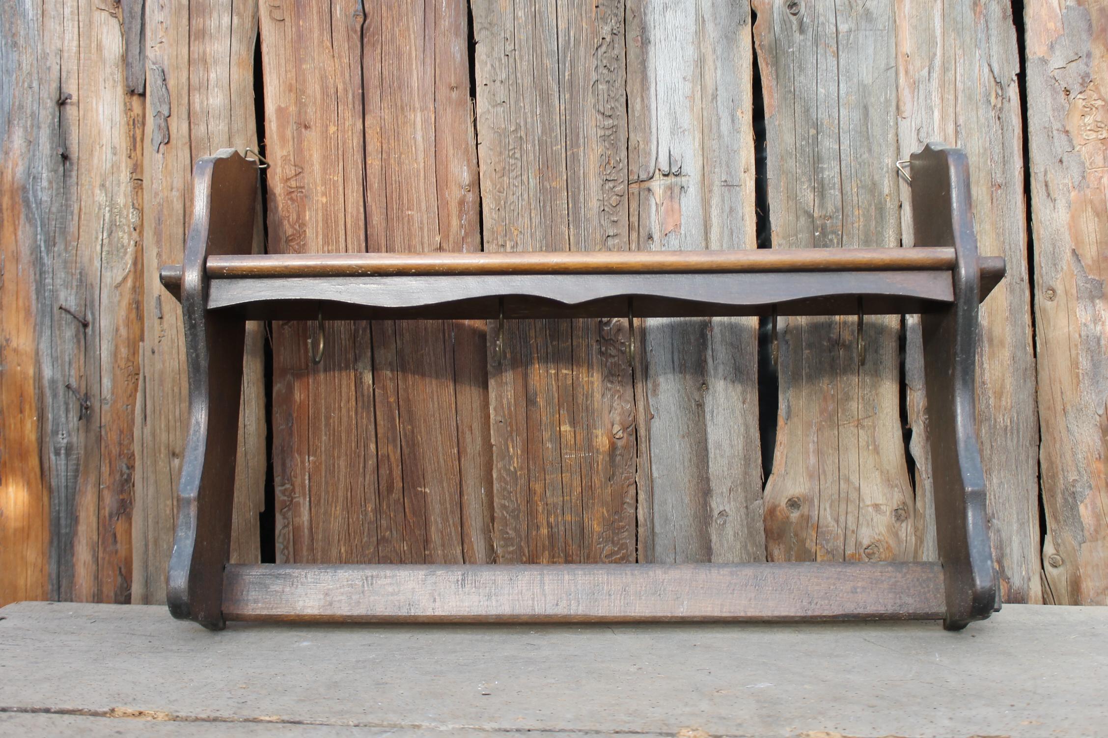 Altes Antik Regal Wandregal Hangeregal Gewurzregal Aus Holz