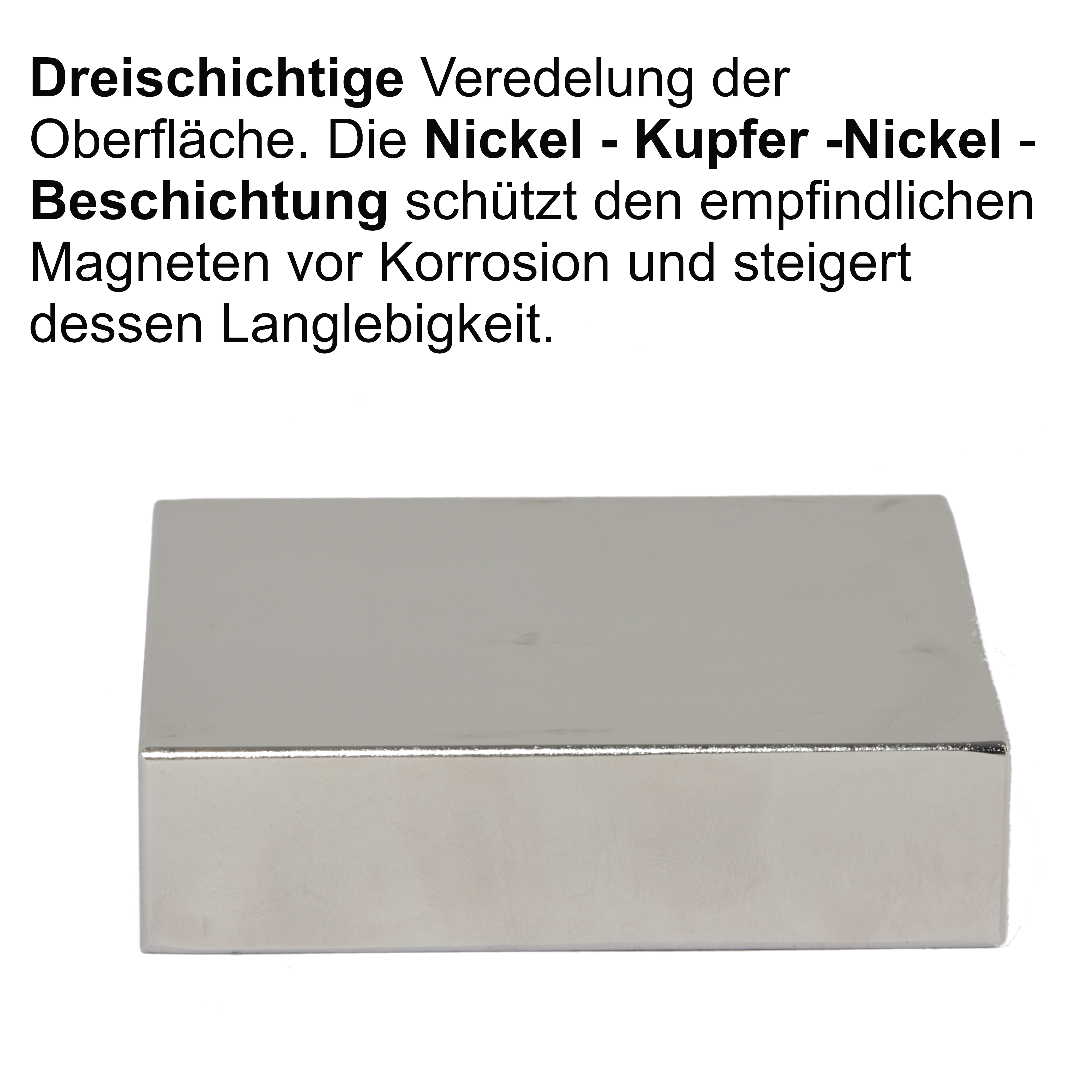 2 x Neodym Magnet Quader 100x100x10mm N45 super stark 400 KG Power groß NdFeB