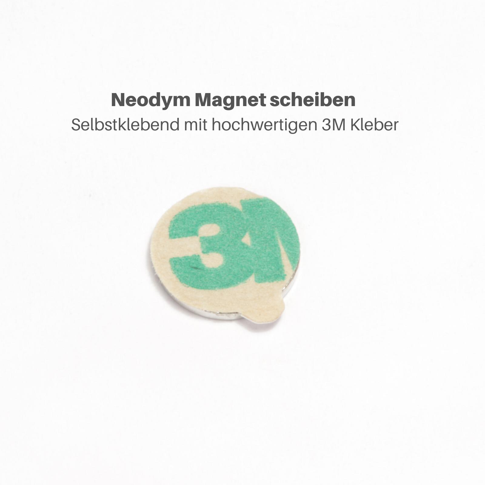 Neodym Magnete Selbstkelbend Quader Scheiben 3M Klebepad Magnetquader Flach