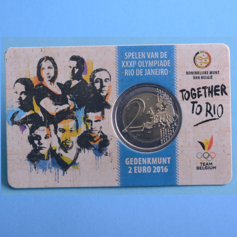 belgien 2 euro 2016 olympische spiele in rio coincard french version ebay. Black Bedroom Furniture Sets. Home Design Ideas