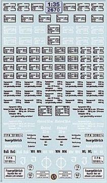 2670 Decals Kennzeichnung der Verladeklasse 1:35