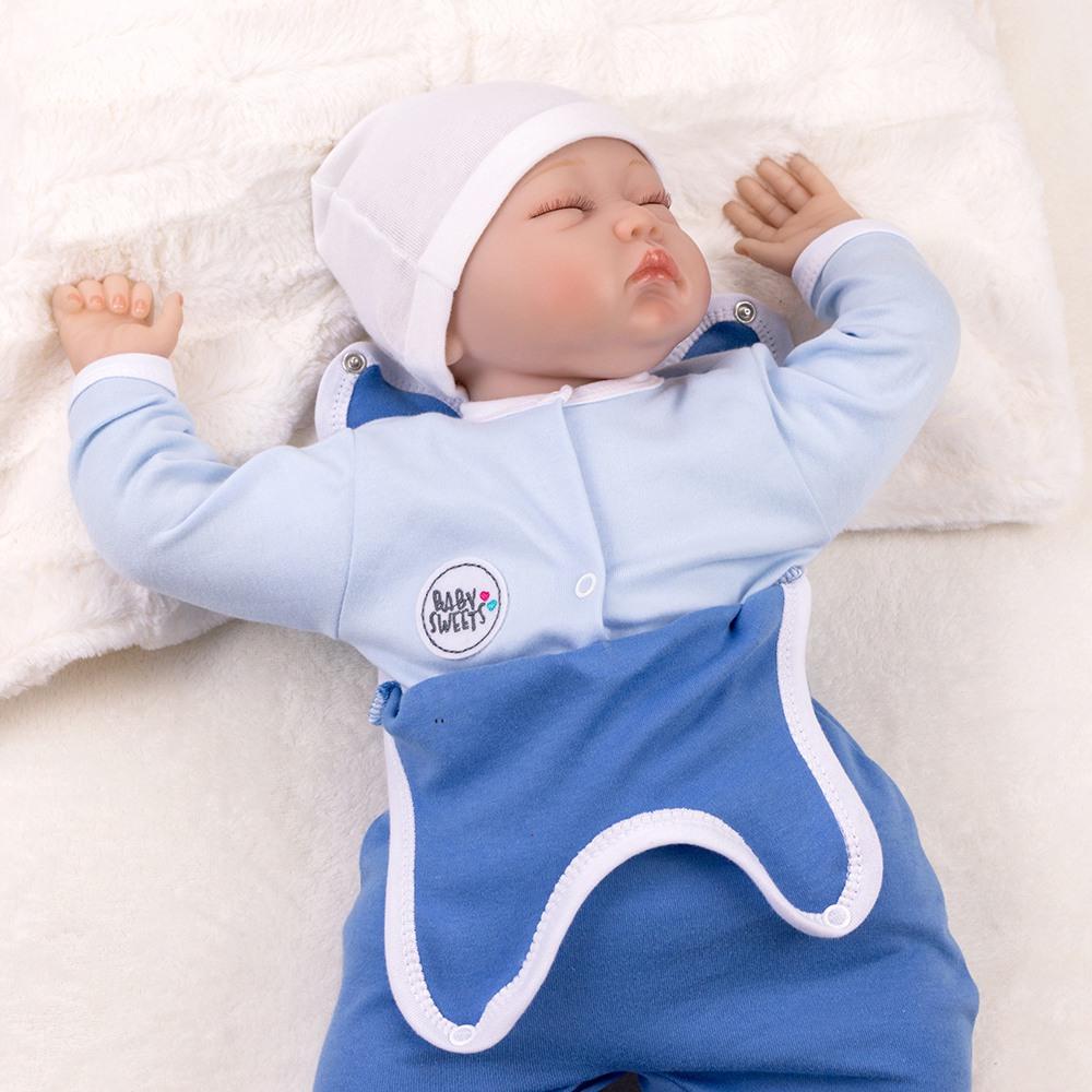 Baby Sweets Jungen Set Strampler und Shirt blau Nice To Sea You