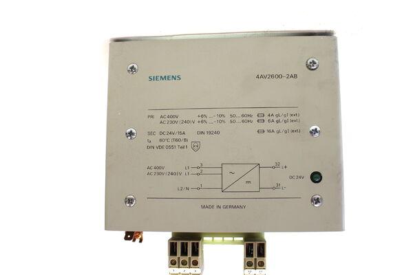 Siemens 4AV2106-2AB Gleichrichtergerät Power Supply 4AV2106 AC400V DC 24V NEU!