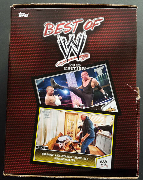 Topps Best of WWE Gravity feed box 2013