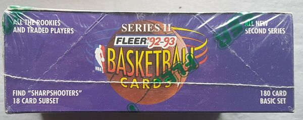 FLEER Série II item 551 Hobby Basket Box NBA 1992-93 36 Packs par Box