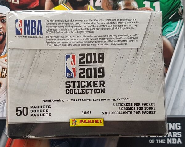 Panini NBA Basketball Sticker Box 2017-18 50 Pack avec 350 AUTOCOLLANTS ALBUM!!!