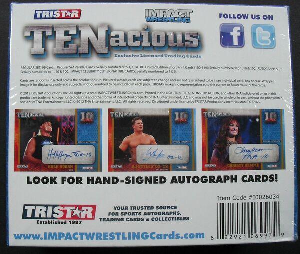 3x 2009 Tristar TNA IMPACT Lutte Blaster BOX 1 Hit Autograph Per Box