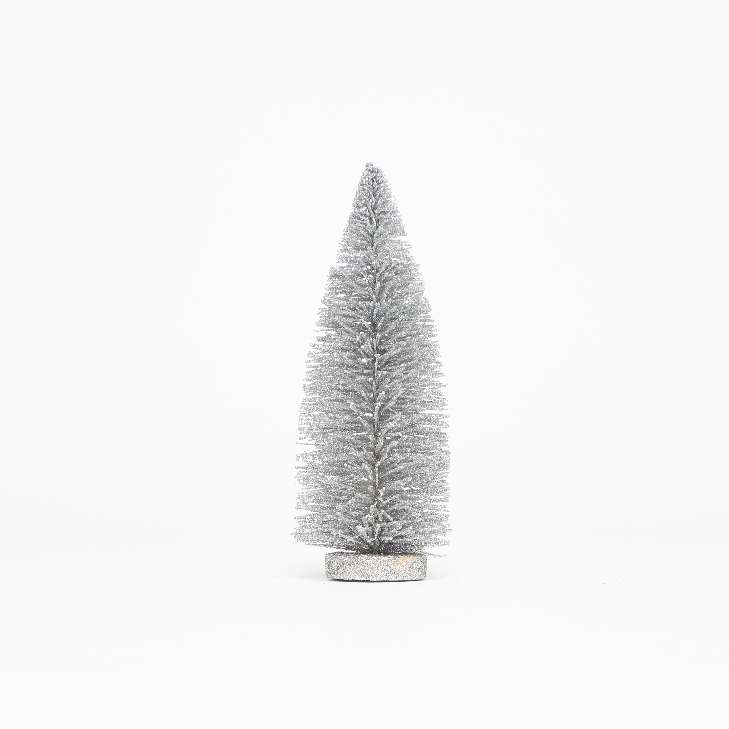 Glitzer-Baum Tannenbaum Christbaum 20 oder 30 cm silber Weihnachten ...
