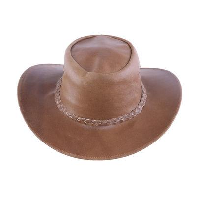 AUSTRALIA Herren Western Cowboy Reiten Leder Hut Beige Brown
