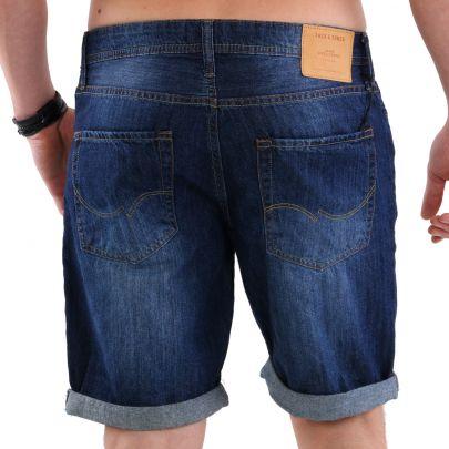JACK /& JONES Herren Regular Jeans Shorts kurze Hose RICK ORIGINAL Blue NZ 013