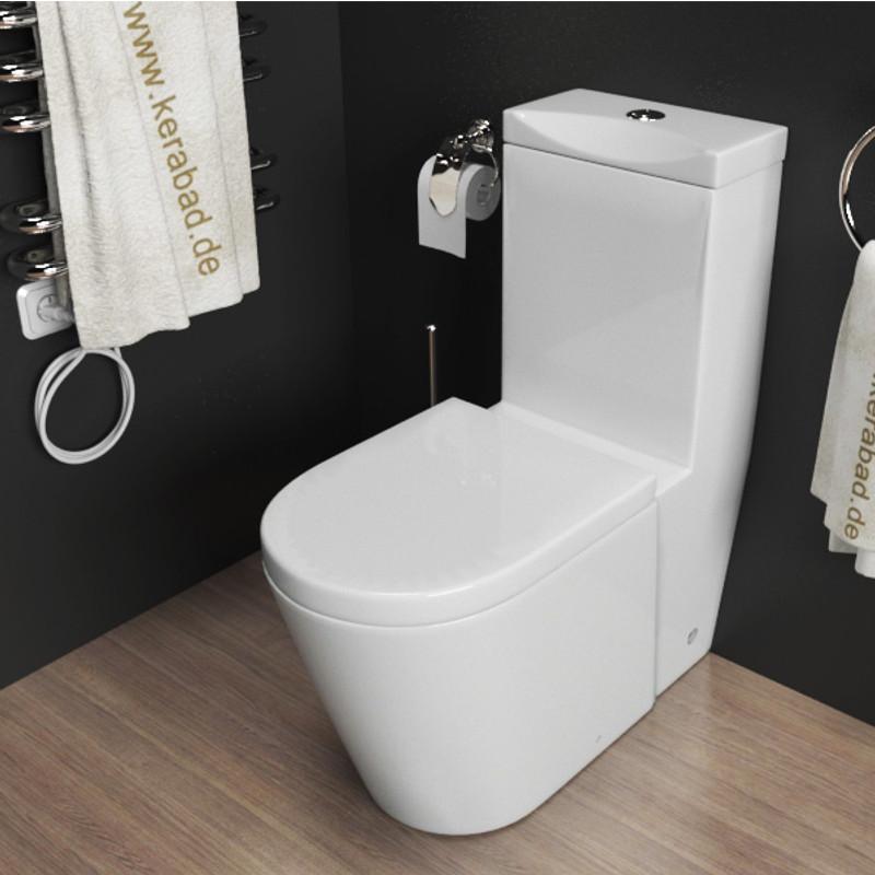 Details zu Design Stand WC-Kombination Toilette inkl. Spülkasten und WC  Sitz KB380