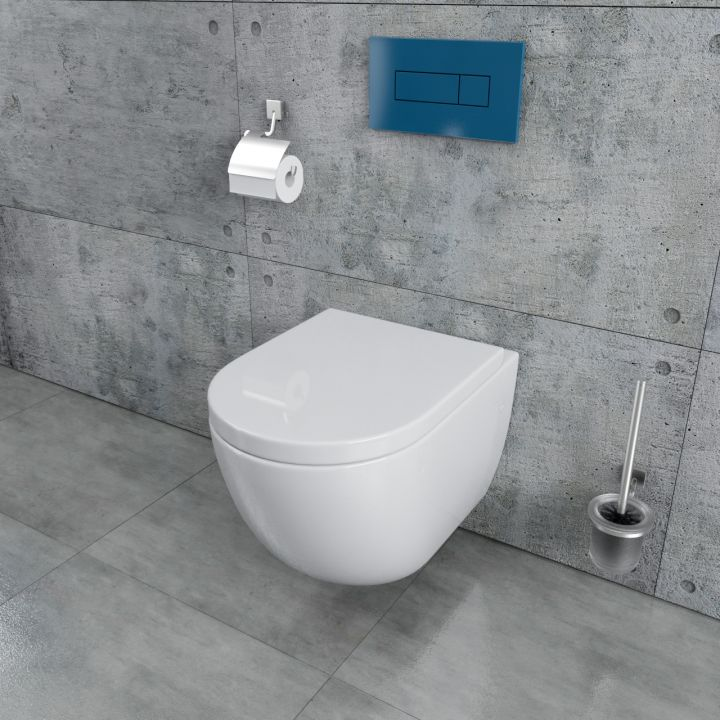 design sp lrandlos wand h nge wc inkl wc sitz aus. Black Bedroom Furniture Sets. Home Design Ideas