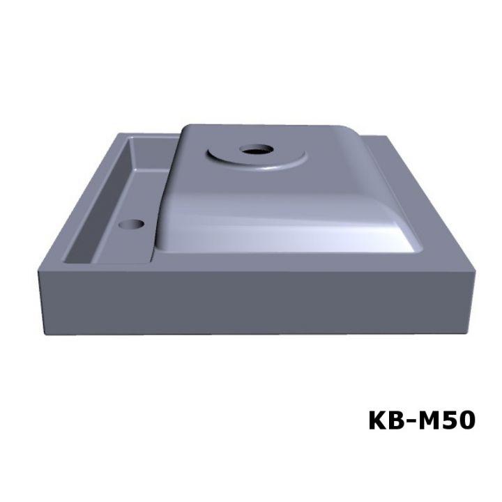 design mineralguss waschbecken waschtisch aufsatzwaschbecken 50cm kb m50 ebay. Black Bedroom Furniture Sets. Home Design Ideas