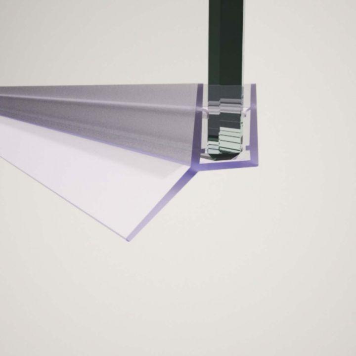 Duschdichtung für 5-6mm Duschtrennwand unten Höhe der Lippe 25mm 90 cm lang
