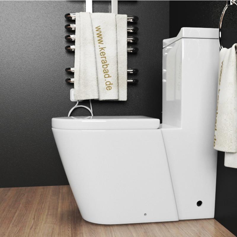 Design Stand WC-Kombination Toilette inkl. Spülkasten und WC Sitz ...