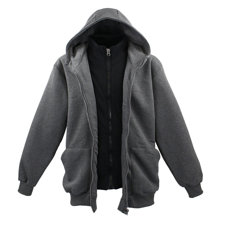 Details zu Lavecchia Übergrößen Herren 2in1 Sweattjacke Sweatshirt Jacke Hoodie 3XL bis 8XL