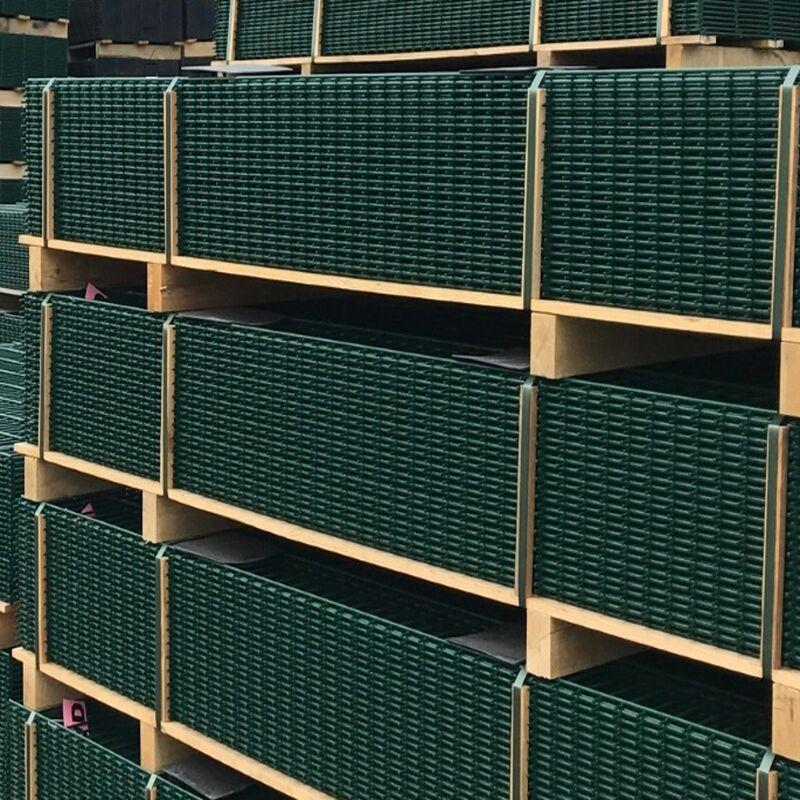 50x Gittermatten Längsverbinder RAL6005 moosgrün Doppelstabmattenzaun