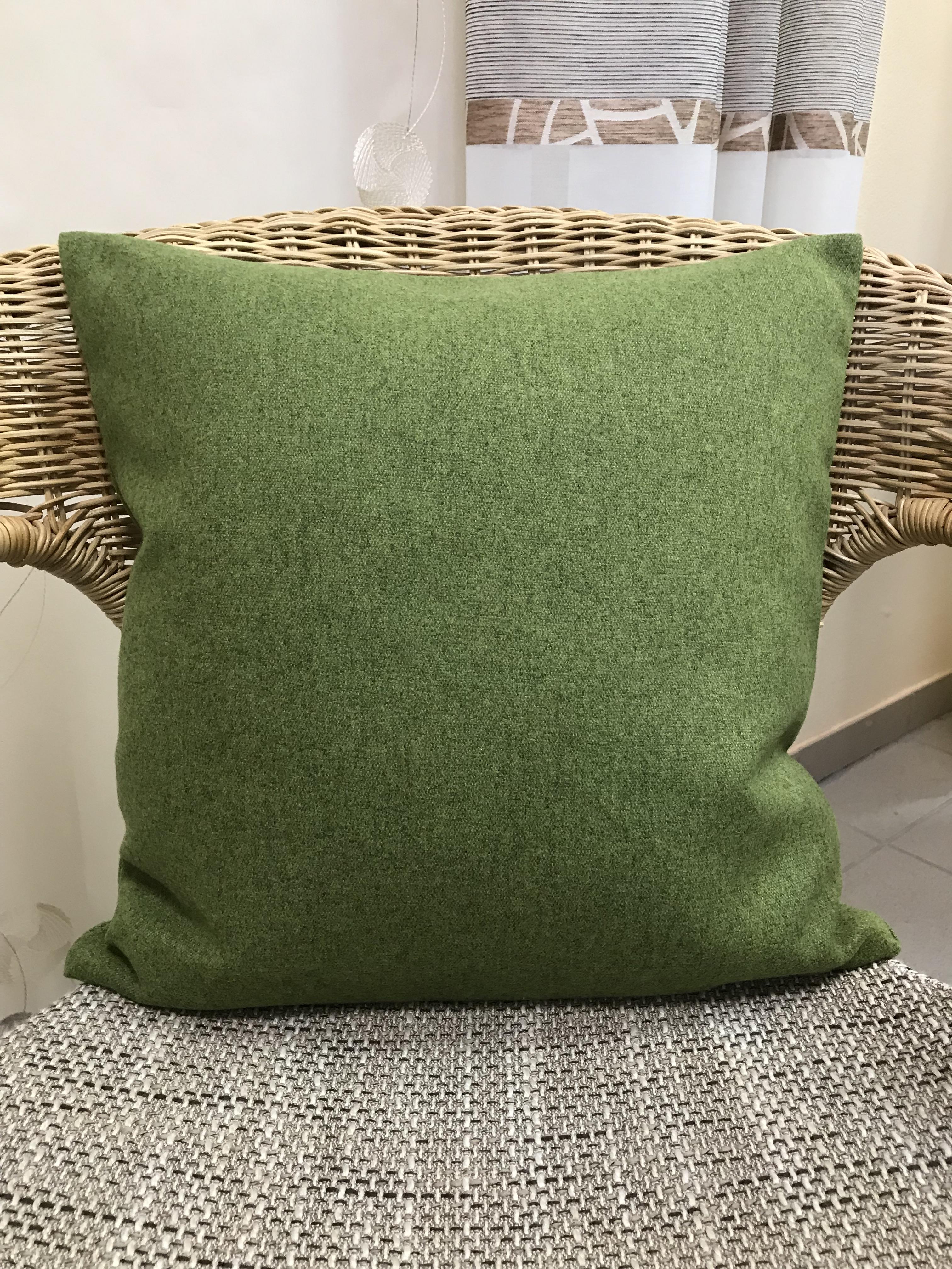 Landhaus Kissen kissenhülle kissen bezug landhaus aus filz einfarbig grün 40 x 40