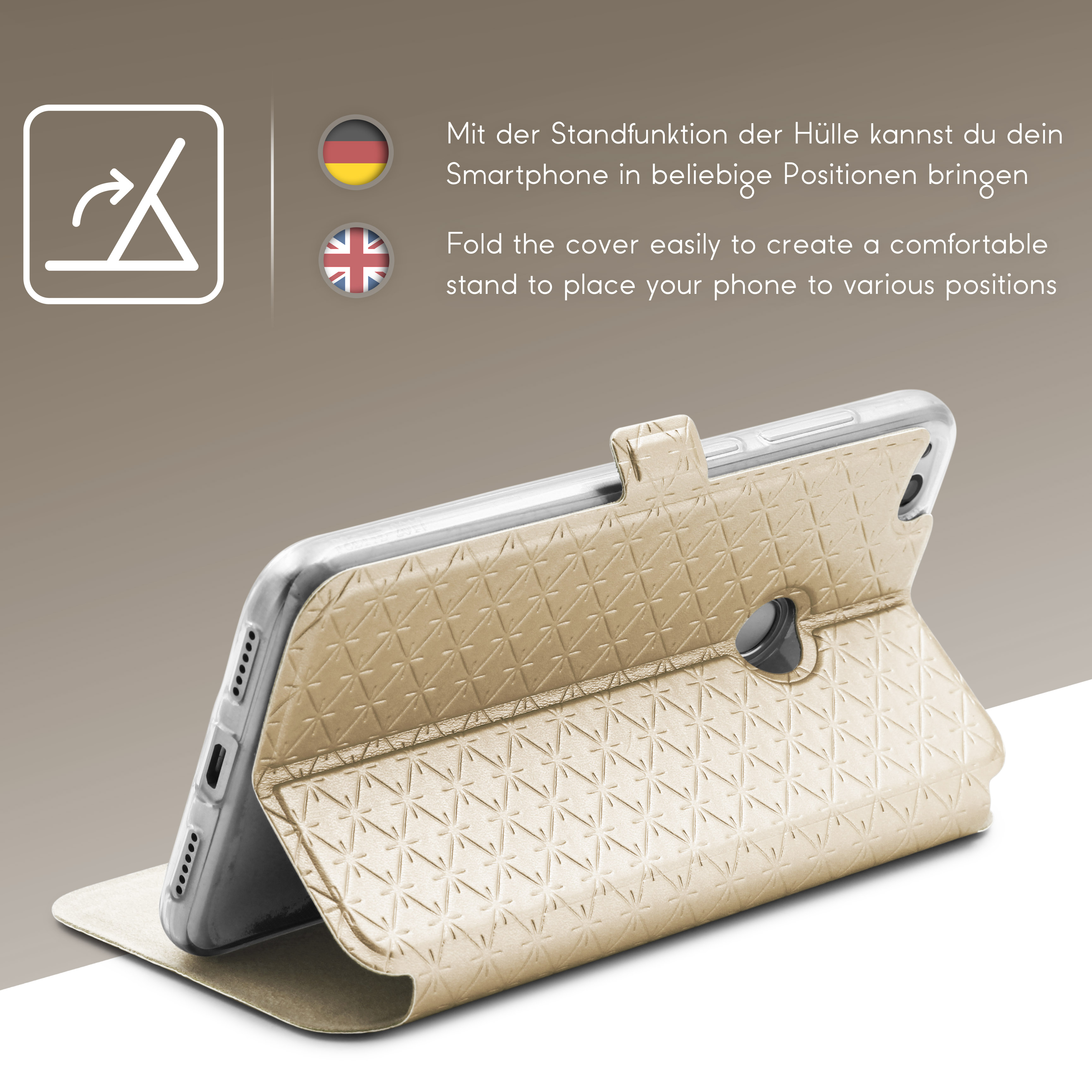 Urcover-for-Apple-Samsung-Sony-Huawei-Smart-View-Case-Flip-Wallet-Stand-Cover thumbnail 17