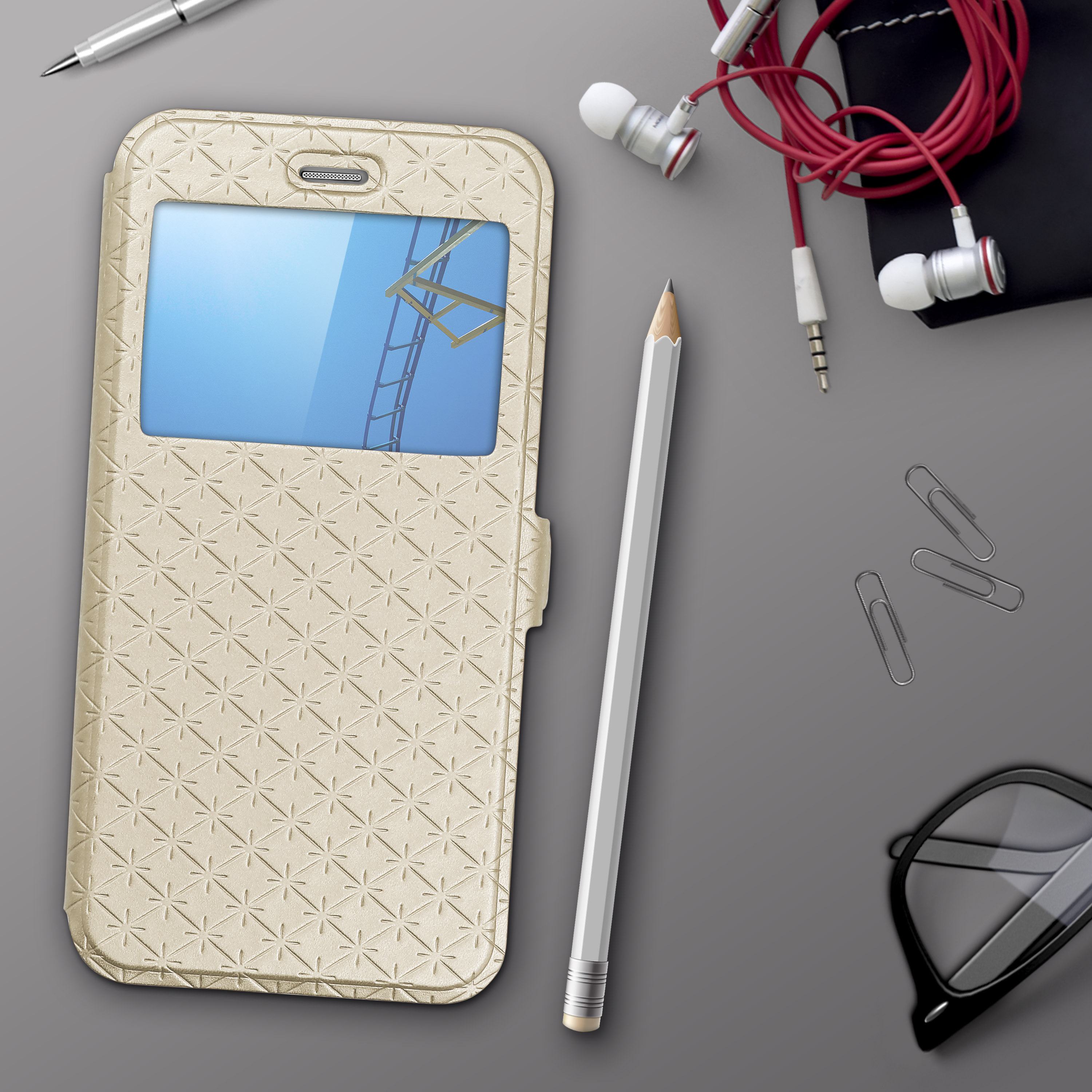 Urcover-for-Apple-Samsung-Sony-Huawei-Smart-View-Case-Flip-Wallet-Stand-Cover thumbnail 14