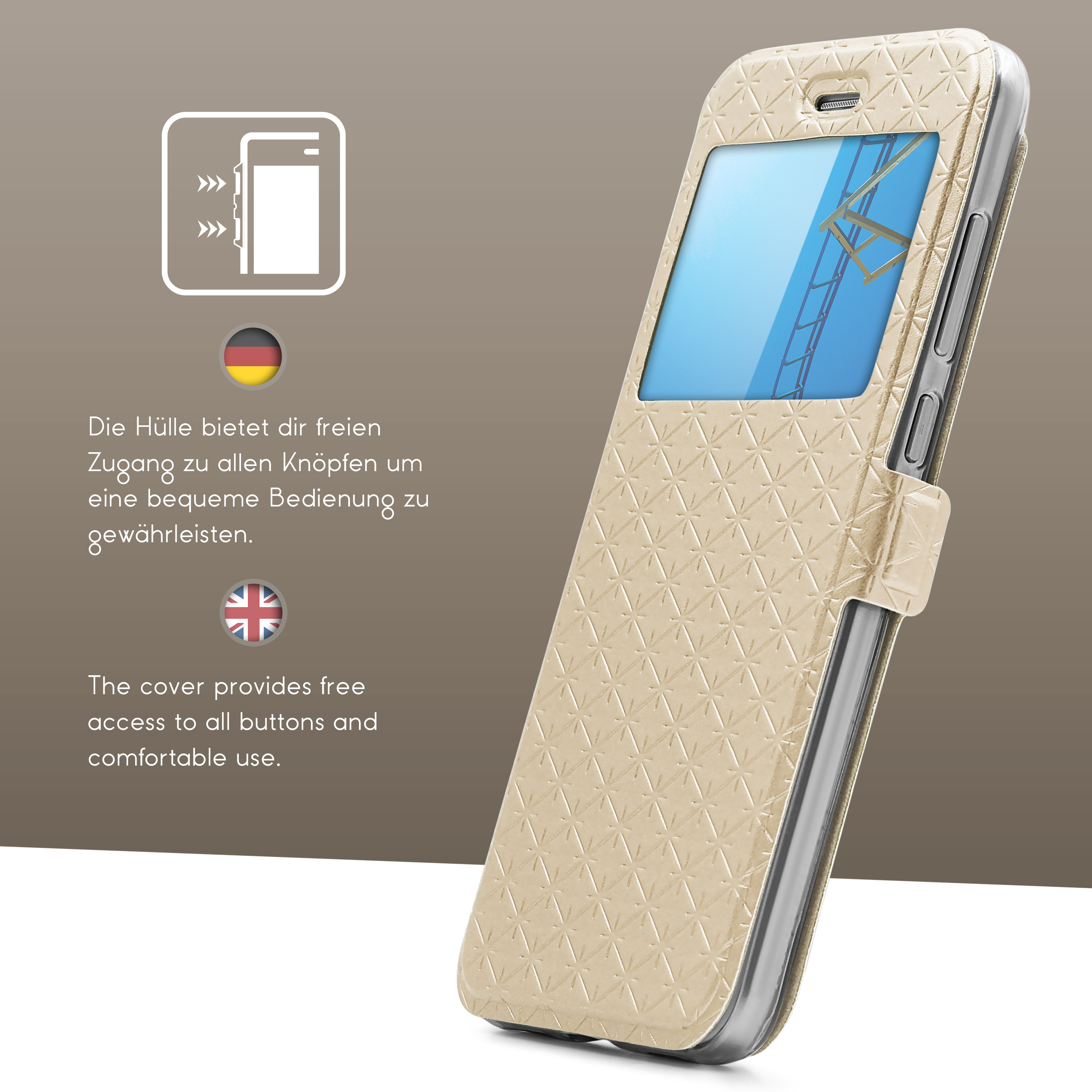 Urcover-for-Apple-Samsung-Sony-Huawei-Smart-View-Case-Flip-Wallet-Stand-Cover thumbnail 15