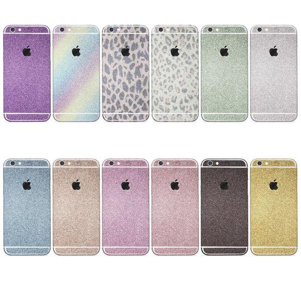 Details Zu Urcover Apple Huawei Glitzer Folie Aufkleben Regenbogen Farbig Diamond Bling