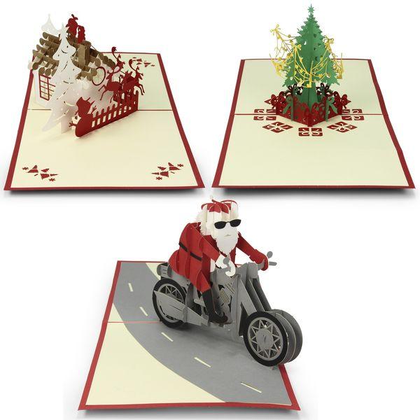 3D Pop-Up Grußkarte Postkarte Klappkarte Weihnachten Weihnachtskarte ...