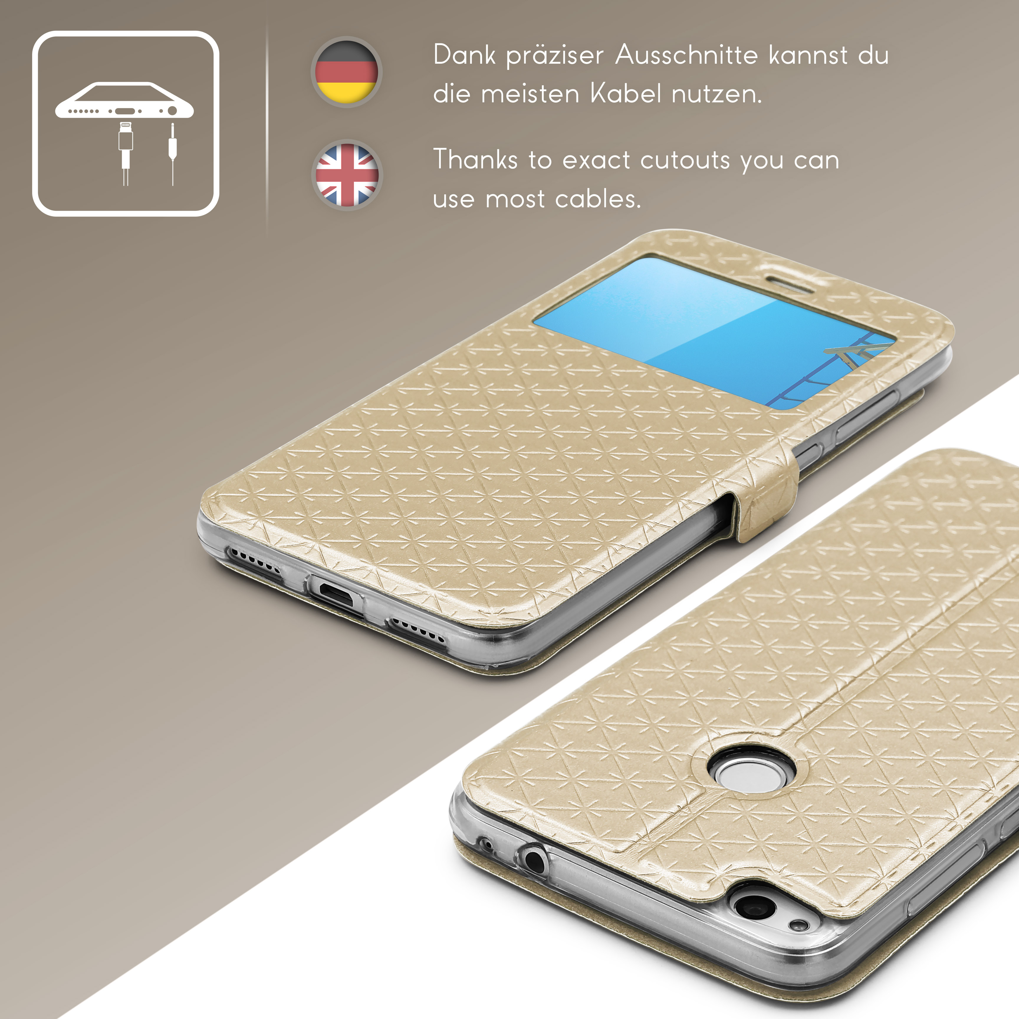 Urcover-for-Apple-Samsung-Sony-Huawei-Smart-View-Case-Flip-Wallet-Stand-Cover thumbnail 16