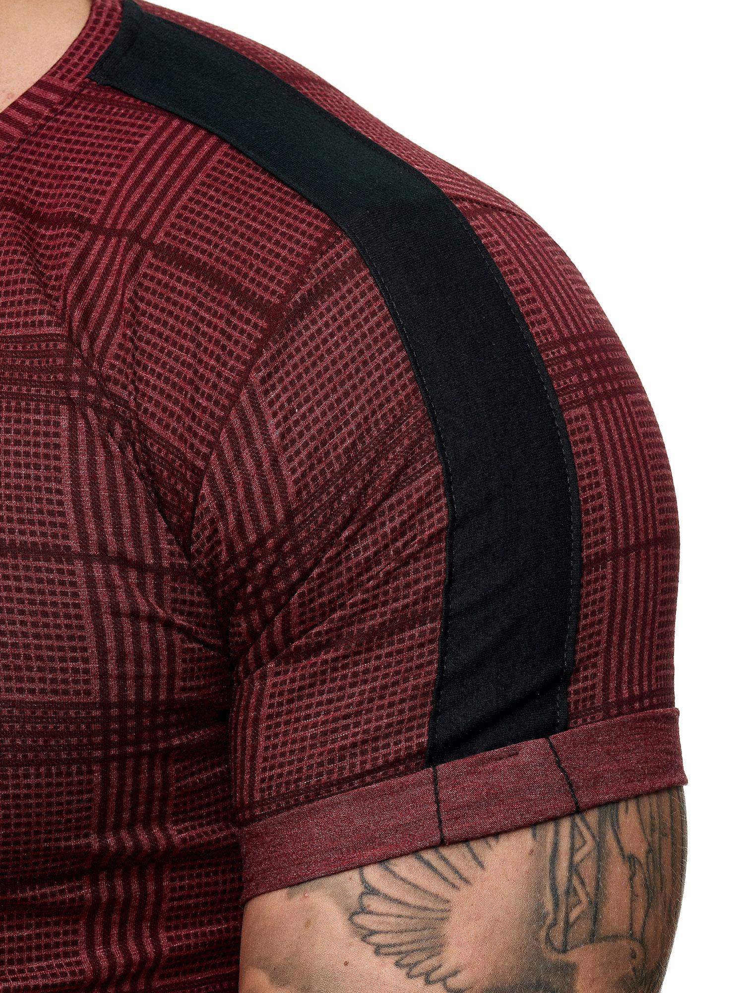 Uomo T-shirt a maniche corte shortsleve Polo Maglia Polo A Quadri oneredox