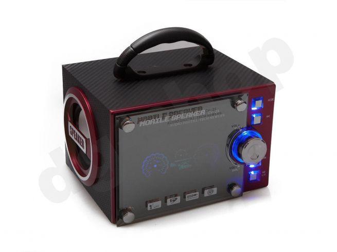 Verantwortlich Bluetooth Lautsprecher Led Wireless Speaker Sound Box Radio Aux Sd Usb Blau Neu Audio-docks & Mini-lautsprecher