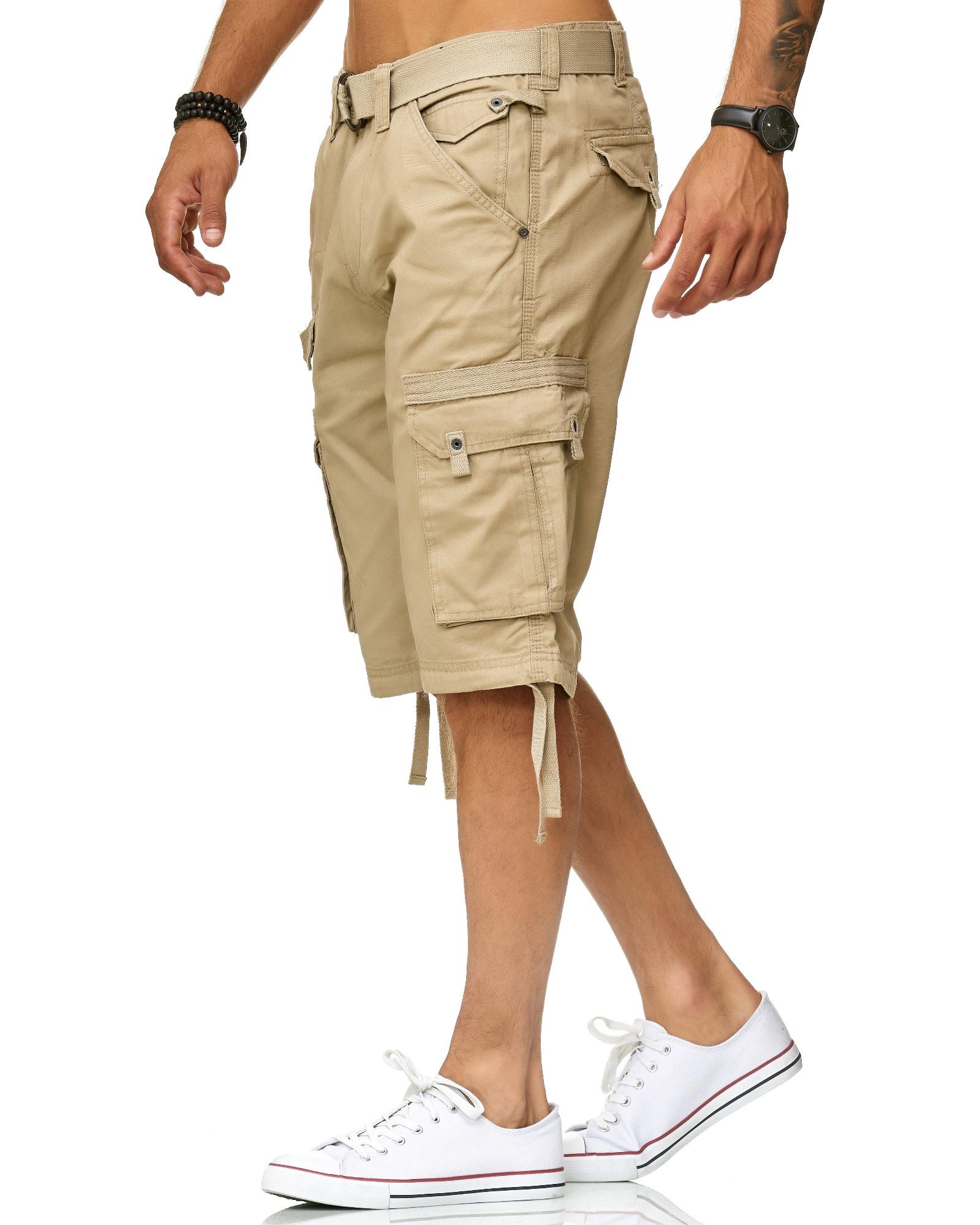 Früchtl uomo Cargo Shorts Pantaloni Corti Bermuda Short Cargo doposcuola con cintura