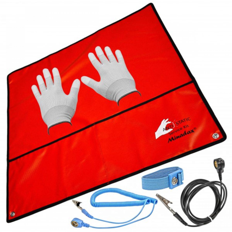 Antistatikmatte + Handschlaufe + Erdungskabel + Antistatik ...