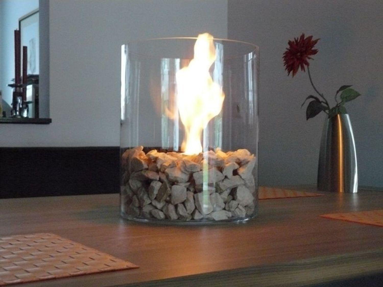 Design Deko Feuer Glas Bio Ethanol Gel Kamin Tischfeuer Stelle In Outdoor 35cm Ebay