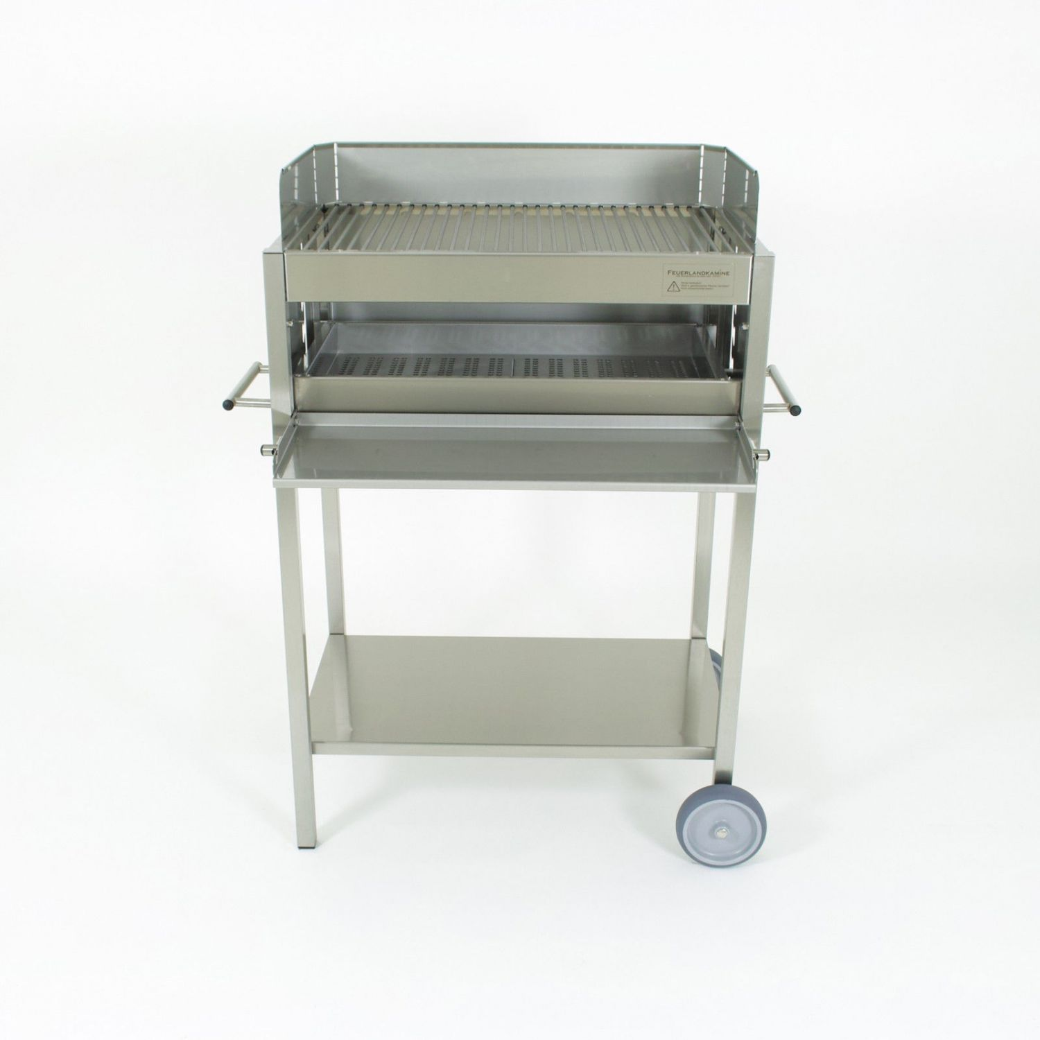edelstahl grill holzkohle grill typ ibiza grill wagen bbq stand grill gastro ebay. Black Bedroom Furniture Sets. Home Design Ideas