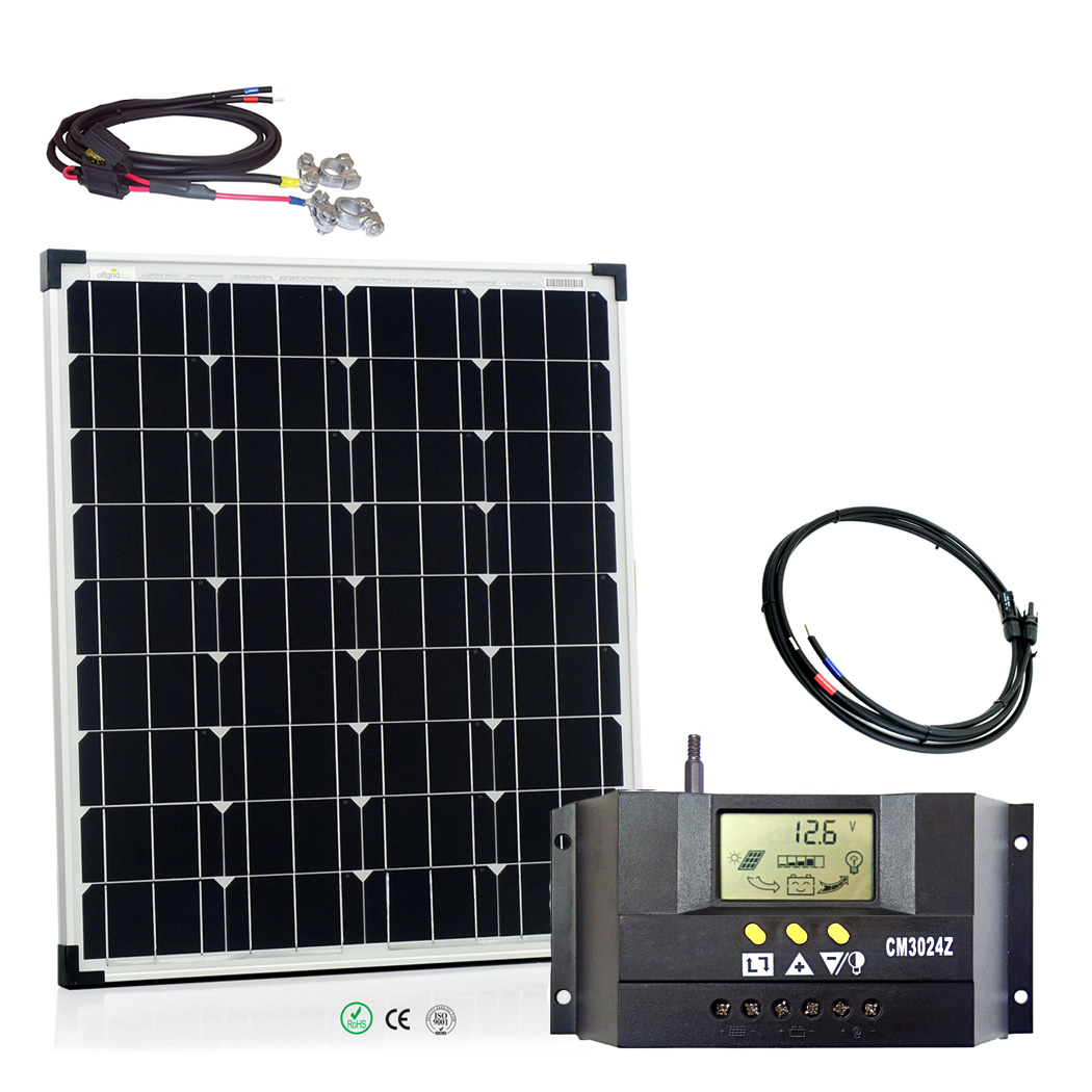 offgridtec basic m 80w 12v solaranlage solar set garten gartenhaus solarmodul 4260297850252 ebay. Black Bedroom Furniture Sets. Home Design Ideas
