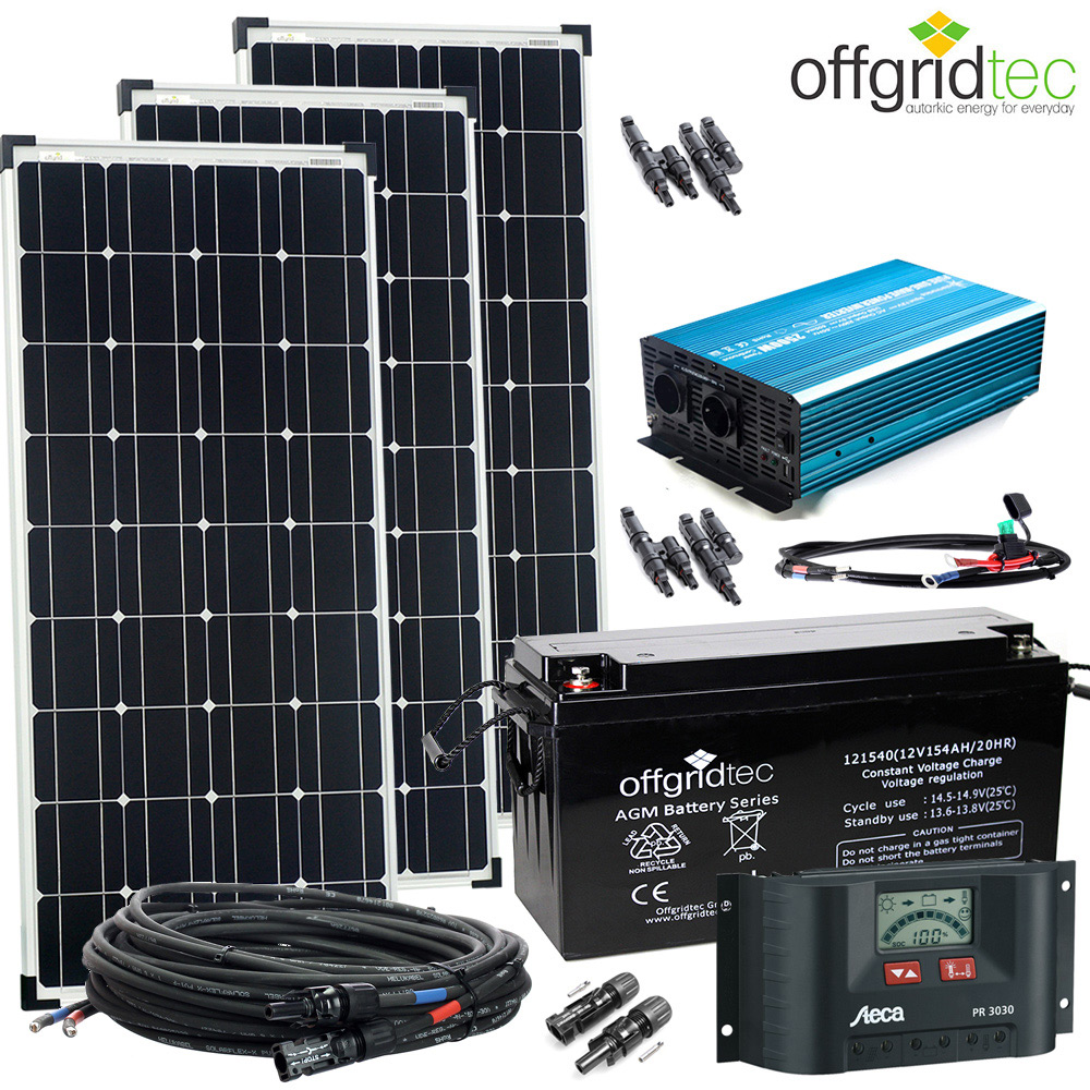 12v solaranlage autark xl master 300w solar 1500w ac leistung gartenhaus strom 4260297853635. Black Bedroom Furniture Sets. Home Design Ideas