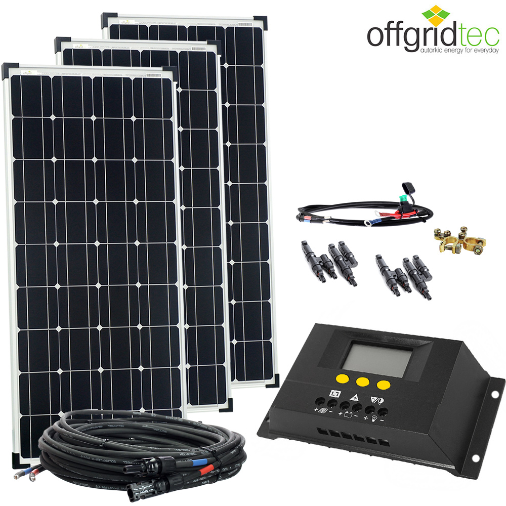 300w basicxl solaranlage 12v solar set garten gartenhaus. Black Bedroom Furniture Sets. Home Design Ideas
