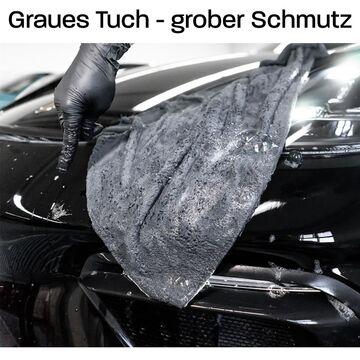 GritGuard Wascheimer Autopflege Shampoo Set Einsatz Microfasertuch Messbecher