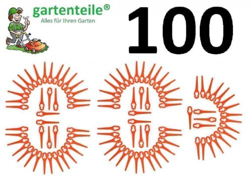 100 Stücke Kunstoffmesser Ersatmesser Für Güde RT250//18 Li ionen Trimmer