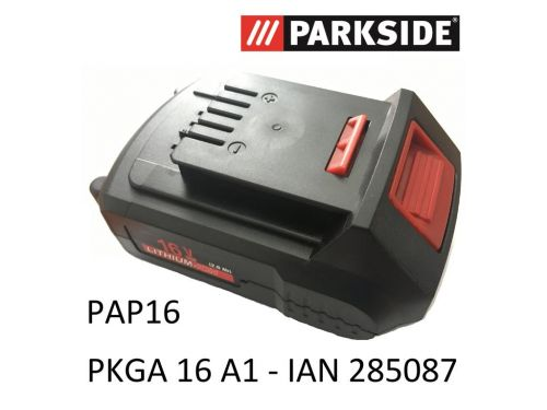 Parkside Akku 16V, 2,0Ah EU 80001189 PAP16 PKGA 16 A1 Kombigerät ...